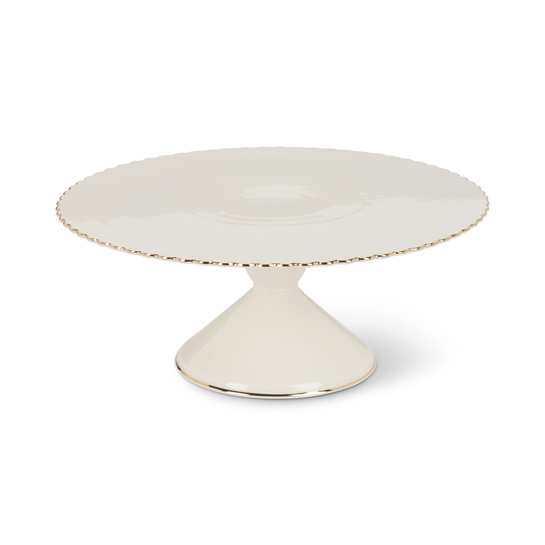 Gold Rim Pedestal Cake Stand - Medium, AC-Abbott Collection, Putti Fine Furnishings