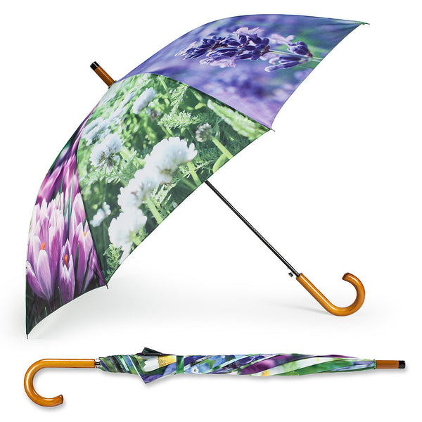 Stick Umbrella with Assorted Flowers-Personal Accessories-AC-Abbott Collection-Putti Fine Furnishings