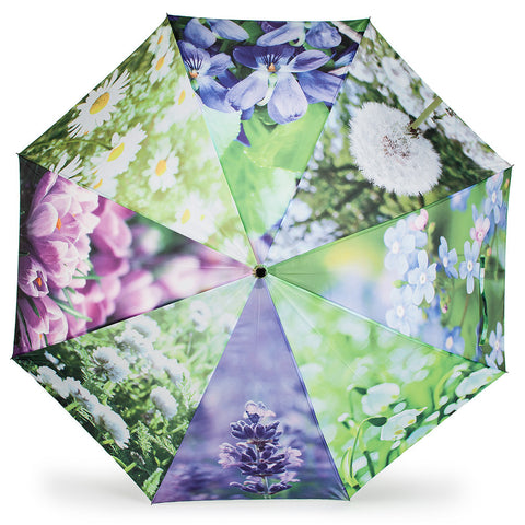 Stick Umbrella with Assorted Flowers