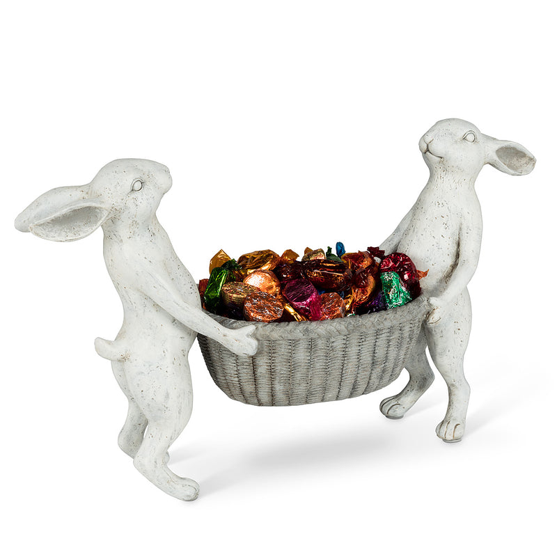 Rabbits Holding Baskets, AC-Abbot Collection, Putti Fine Furnishings