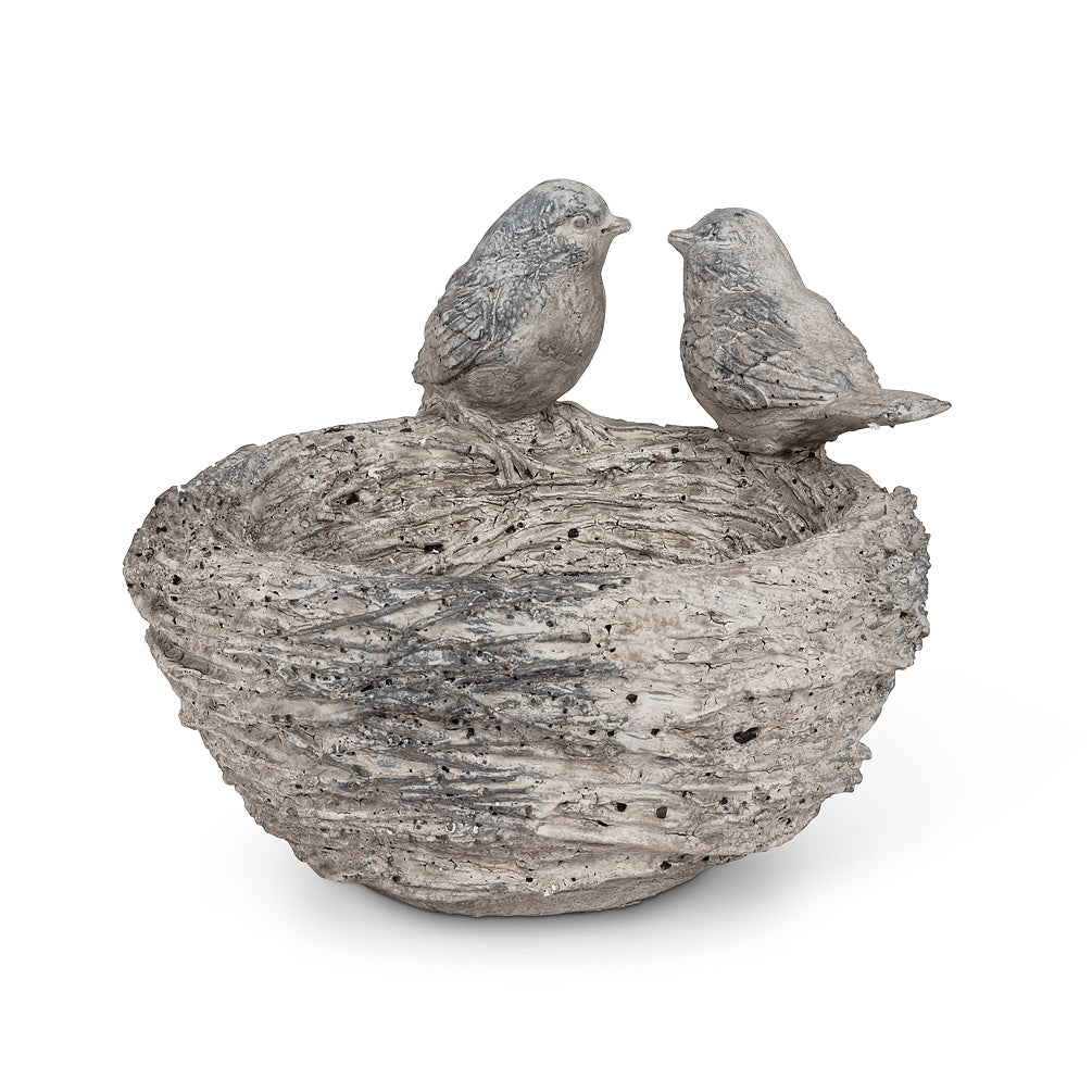 Double Bird on Nest Bowl, AC-Abbot Collection, Putti Fine Furnishings