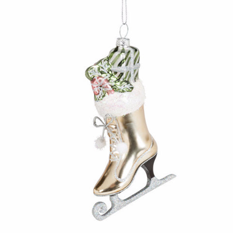 Fancy Pastel Skate Ornament -  Christmas Decorations - AC-Abbot Collection - Putti Fine Furnishings Toronto Canada