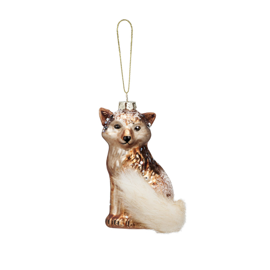 Fox with Tail Ornament, AC-Abbott Collection, Putti Fine Furnishings