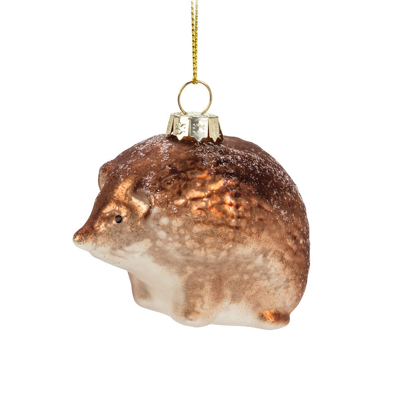 Small Brown Glass Ornament