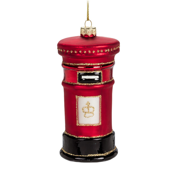 Royal Mailbox Glass Ornament-Christmas-AC-Abbott Collection-Putti Fine Furnishings