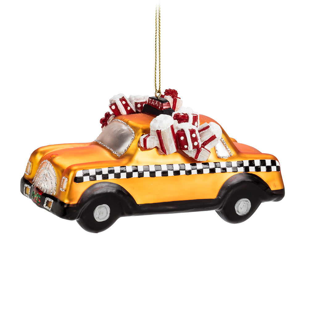 NYC Taxicab Ornament, AC-Abbott Collection, Putti Fine Furnishings