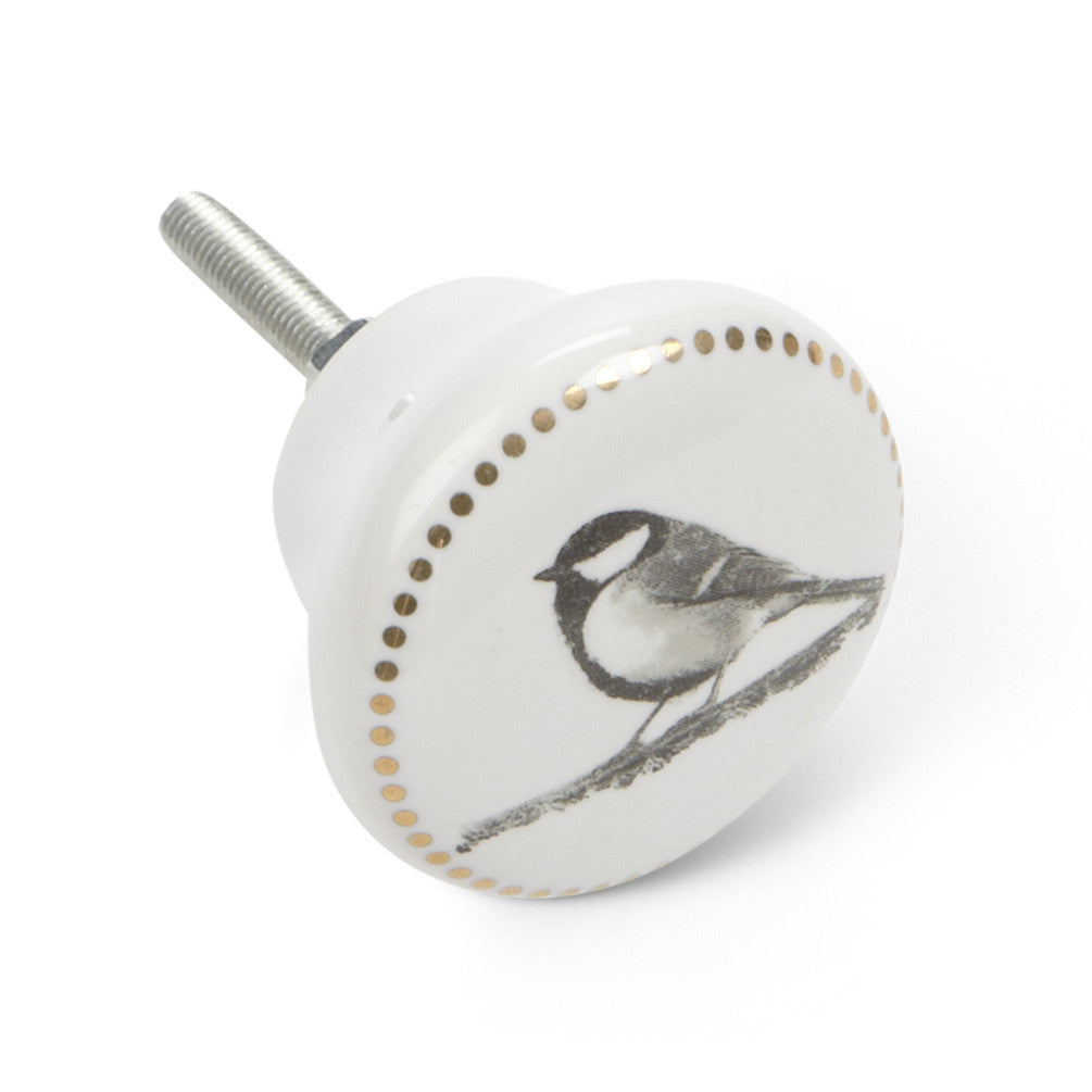 Bird Drawer Knob with Dots, AC-Abbott Collection, Putti Fine Furnishings