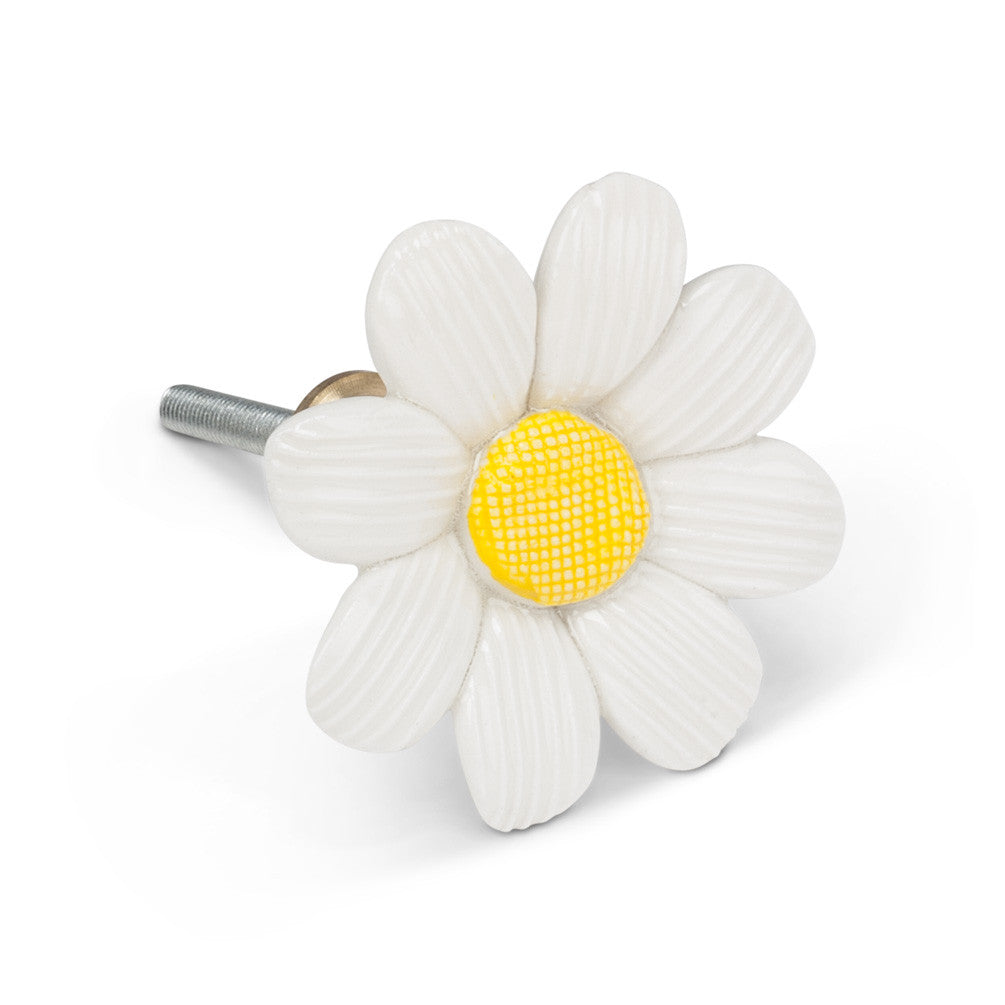 Sculpted Daisy Drawer Knob