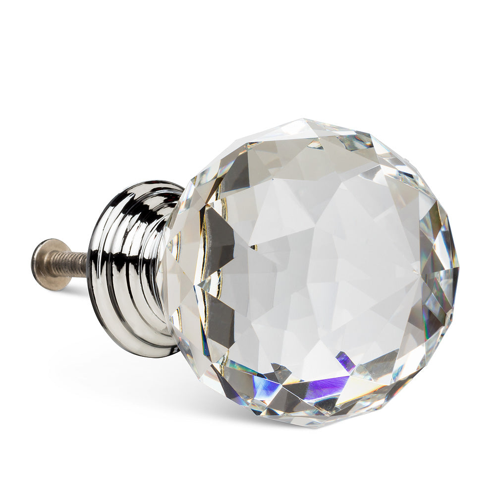 Cut Crystal Ball Knob - Large