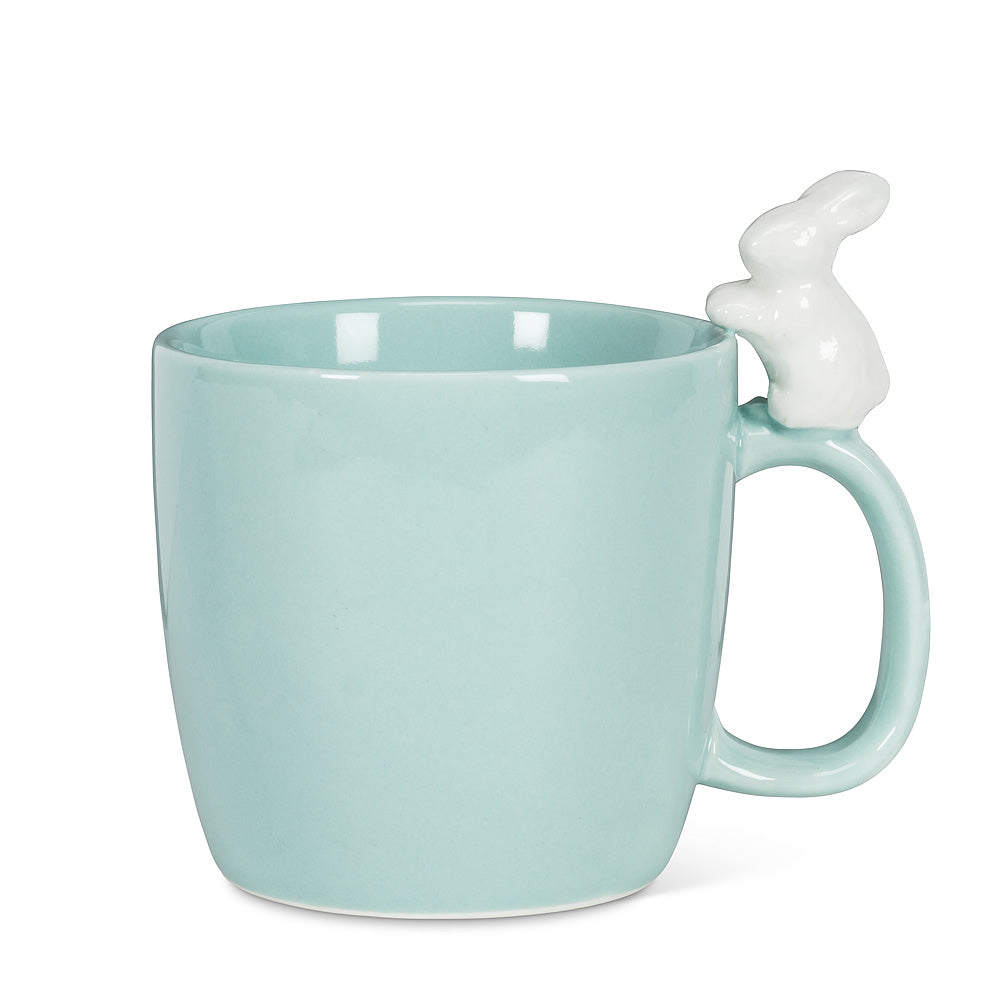 Bunny on Handle Mug - Blue, AC-Abbott Collection, Putti Fine Furnishings