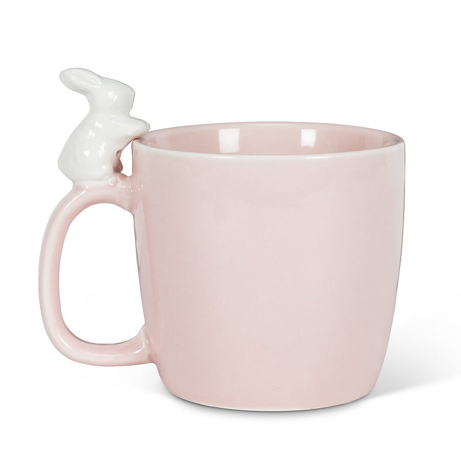 Bunny on Handle Mug - Pink