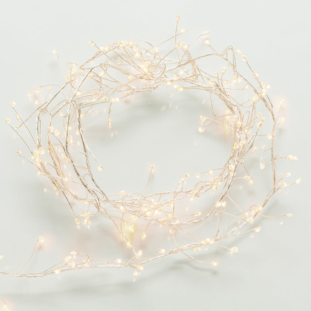 Spray LED 240 Lightstring with Branches - Silver