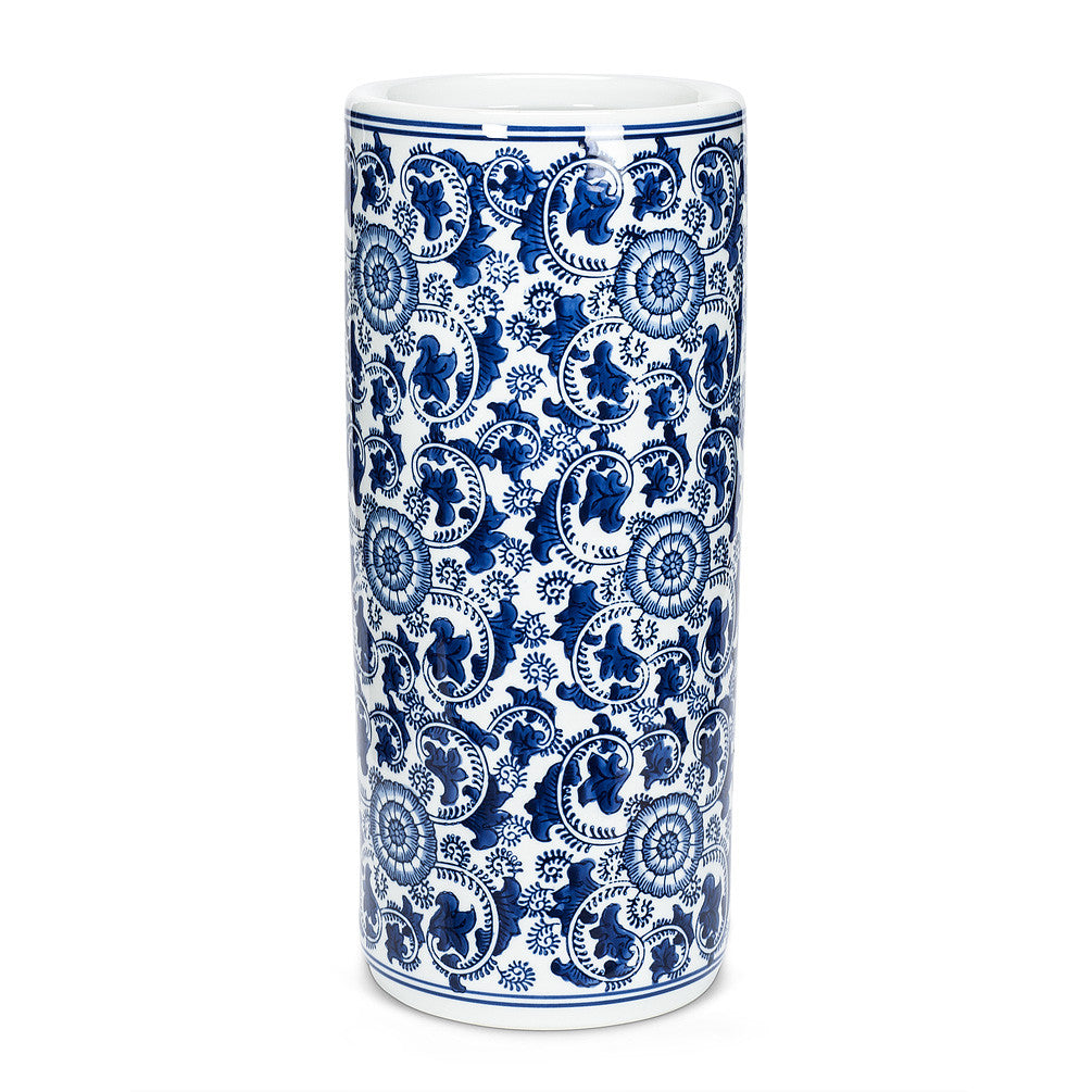 Umbrella Stand Indigo Patterned -  Accessories - Abbot Collection - Putti Fine Furnishings Toronto Canada