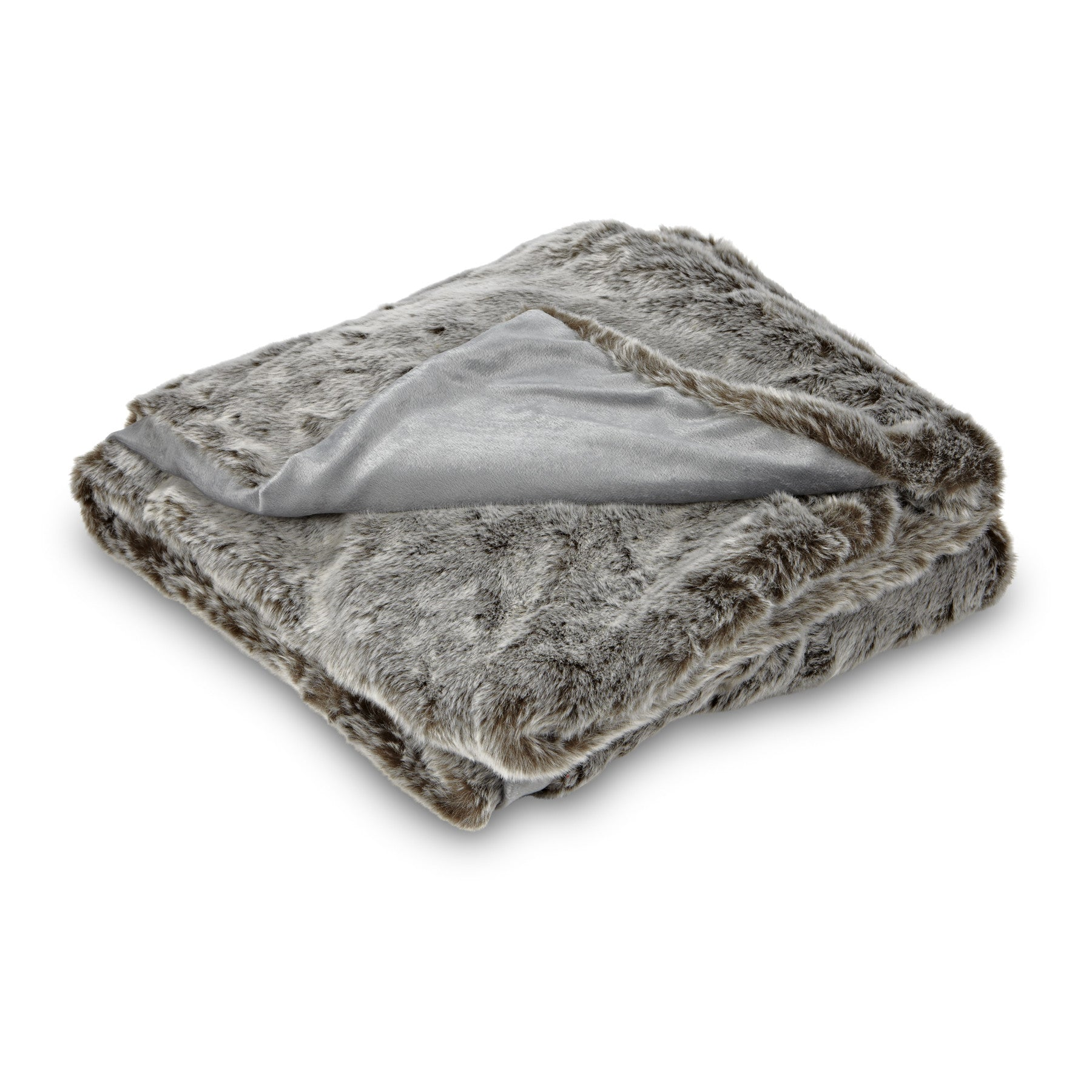 Faux Fur Throw - Grey