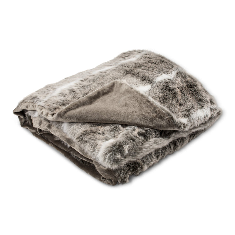 Faux Fur Throw - Taupe, AC-Abbott Collection, Putti Fine Furnishings