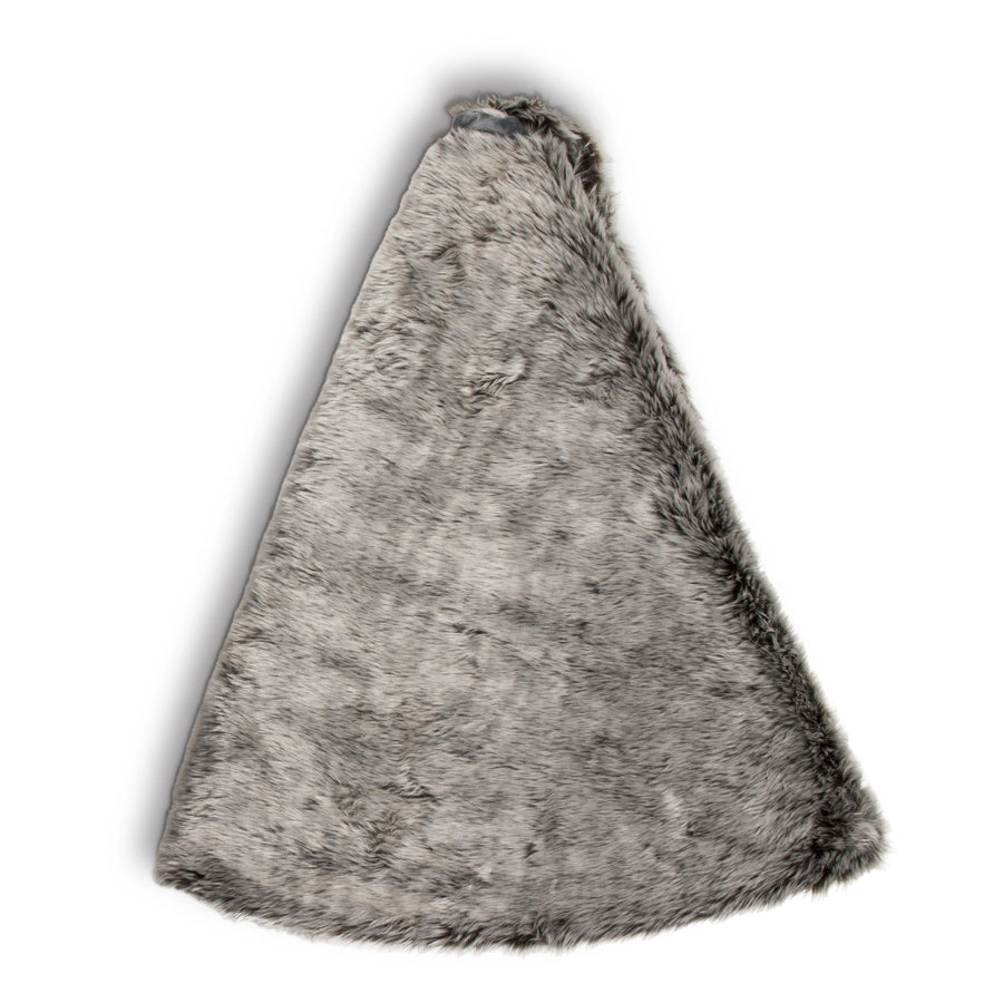 Faux Fur Tree Skirt - Grey