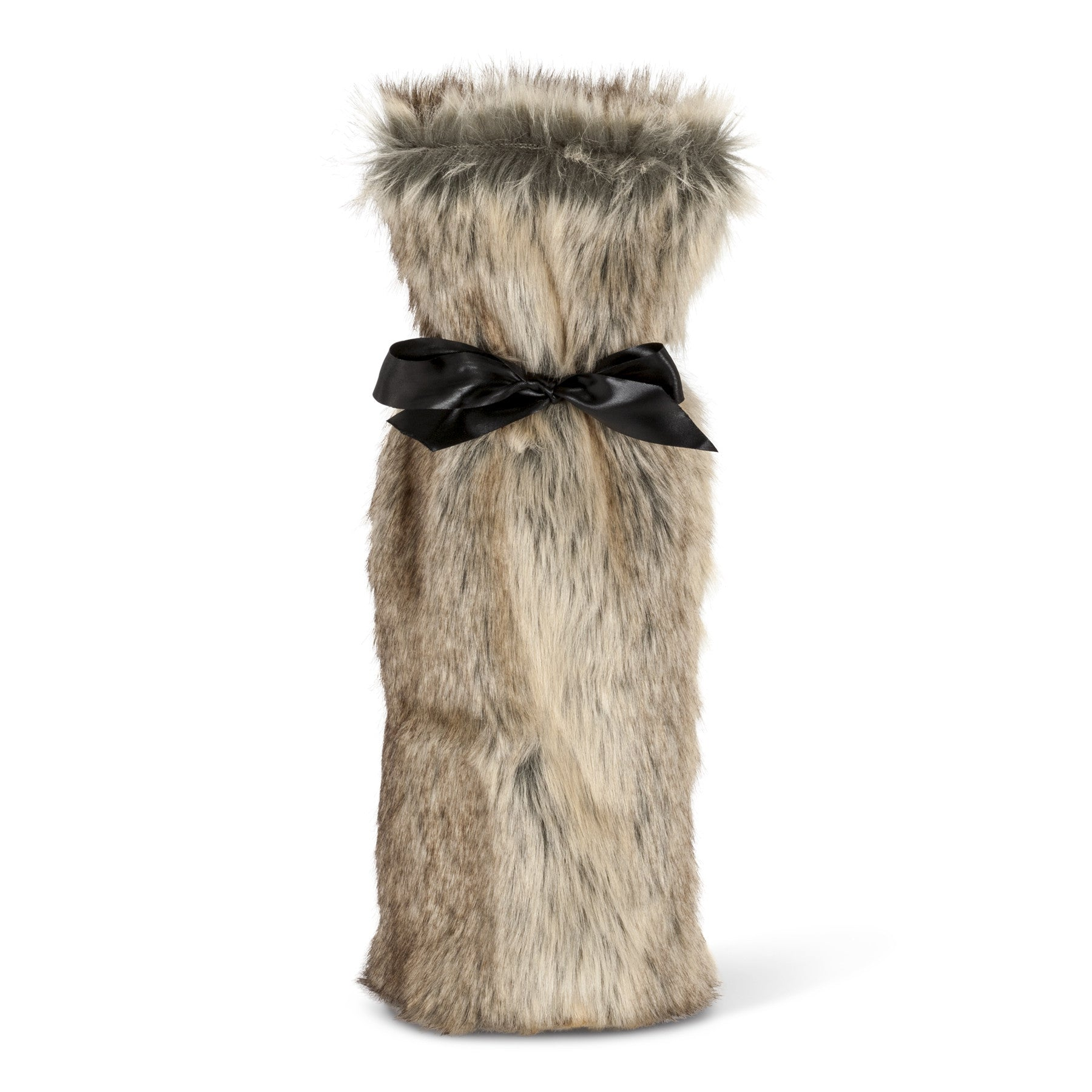 Faux Fur Bottle Bag - Tan, AC-Abbott Collection, Putti Fine Furnishings