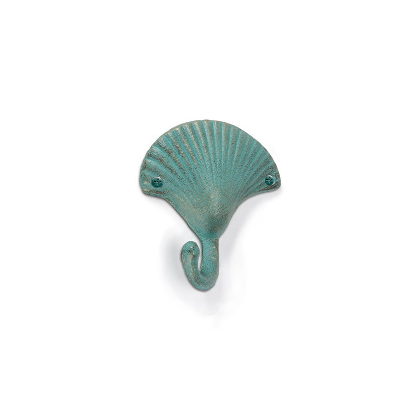 Seashell Wall Hook - Verdigris