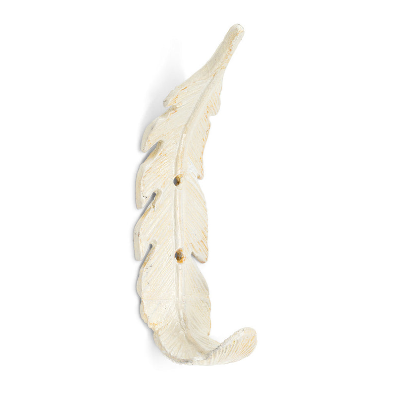 Curved Feather Wall Hook - White