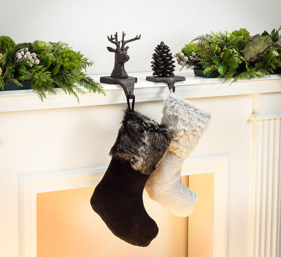 Reindeer Head Stocking Holder