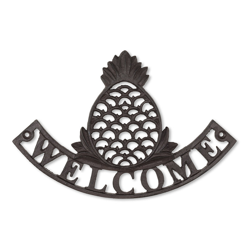 "Pineapple ""Welcome"" Wall Sign, AC-Abbott Collection, Putti Fine Furnishings"