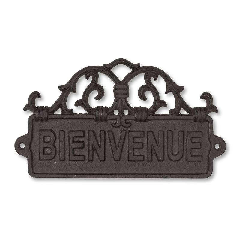 """Bienvenue"" Scroll Wall Sign, AC-Abbott Collection, Putti Fine Furnishings"