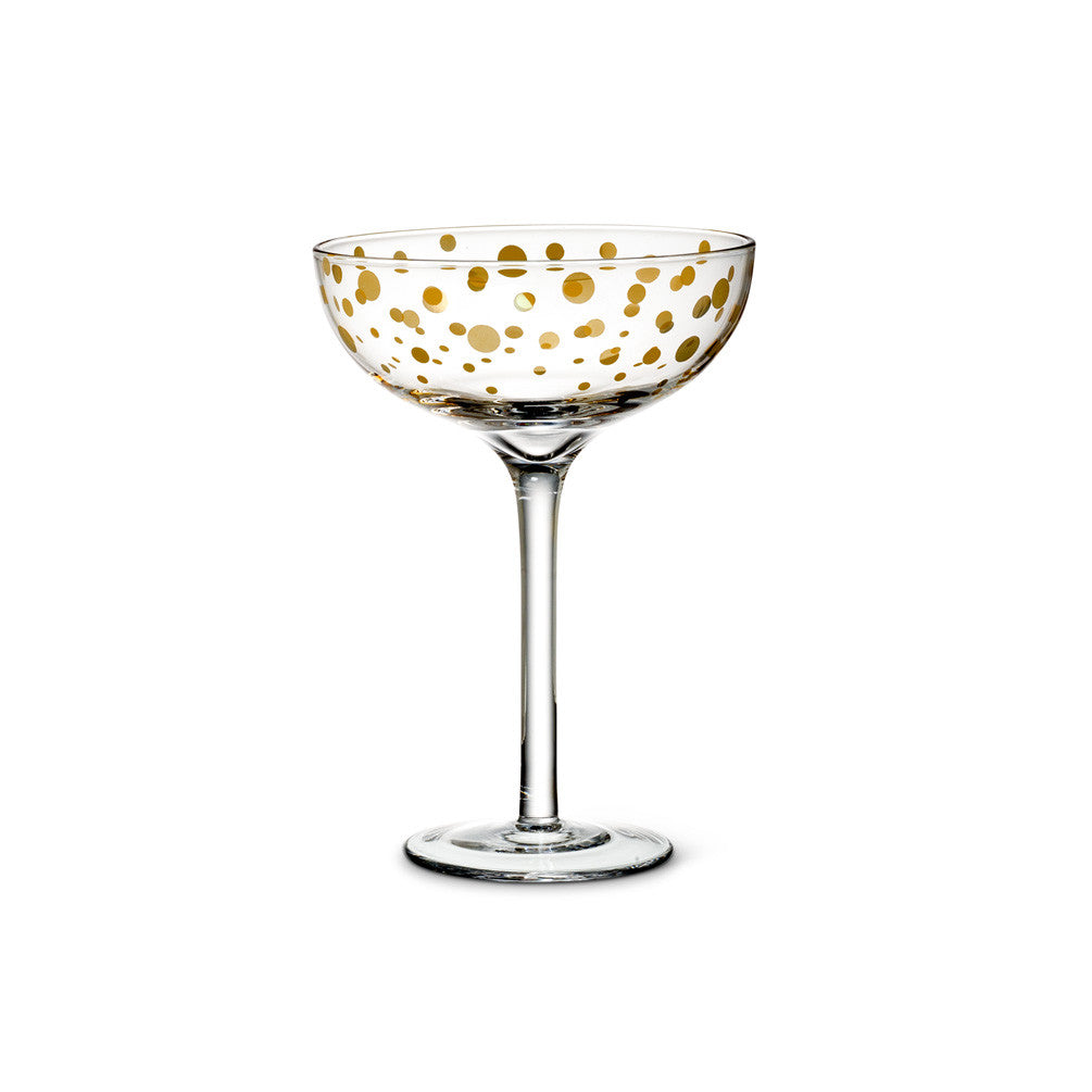 Coupe Champagne with Gold Dots