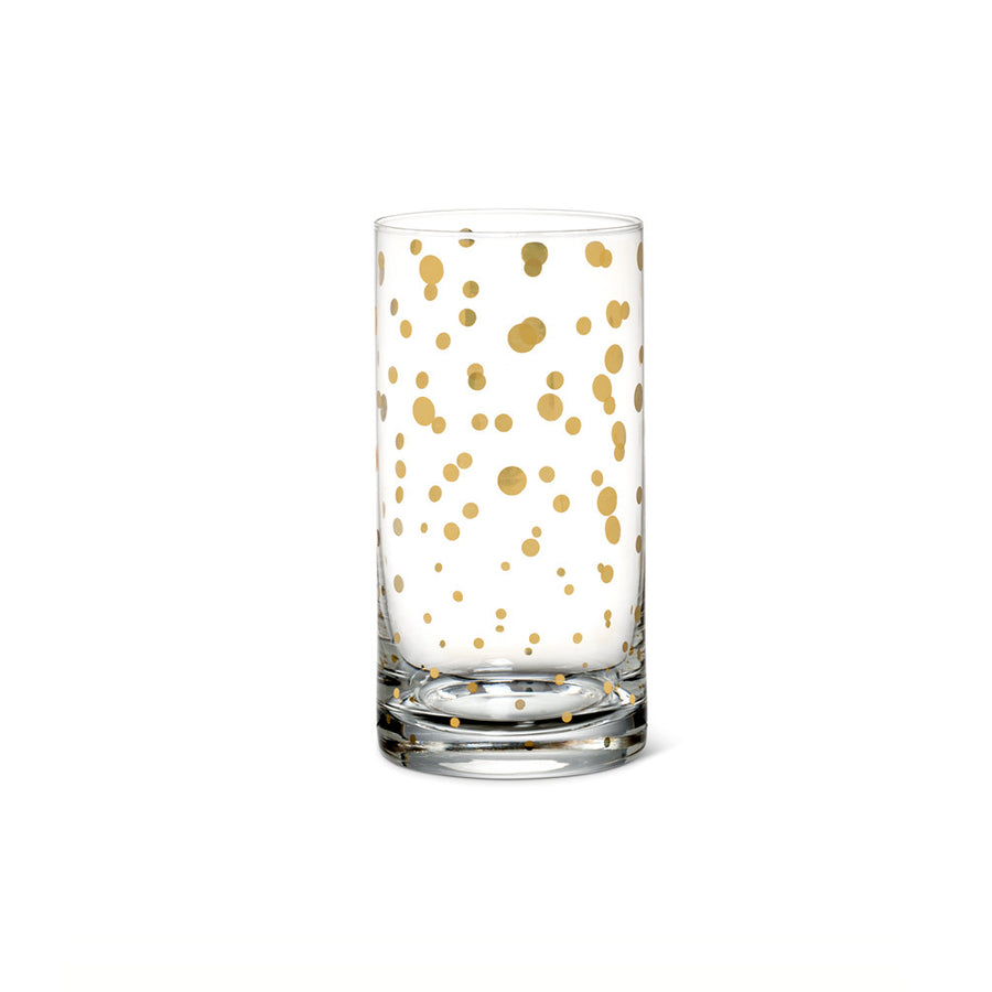 Highball with Gold Dots