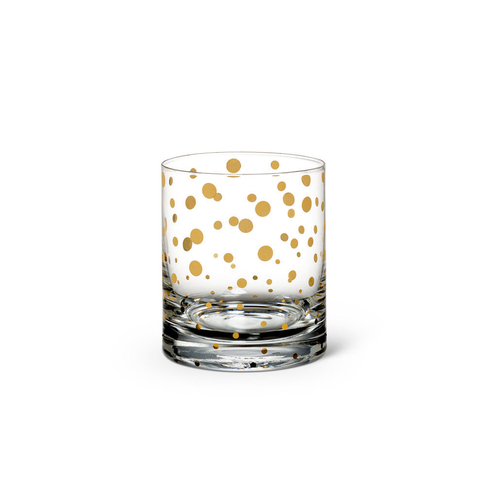 Tumbler with Gold Dots -  Glassware - Abbot Collection - Putti Fine Furnishings Toronto Canada