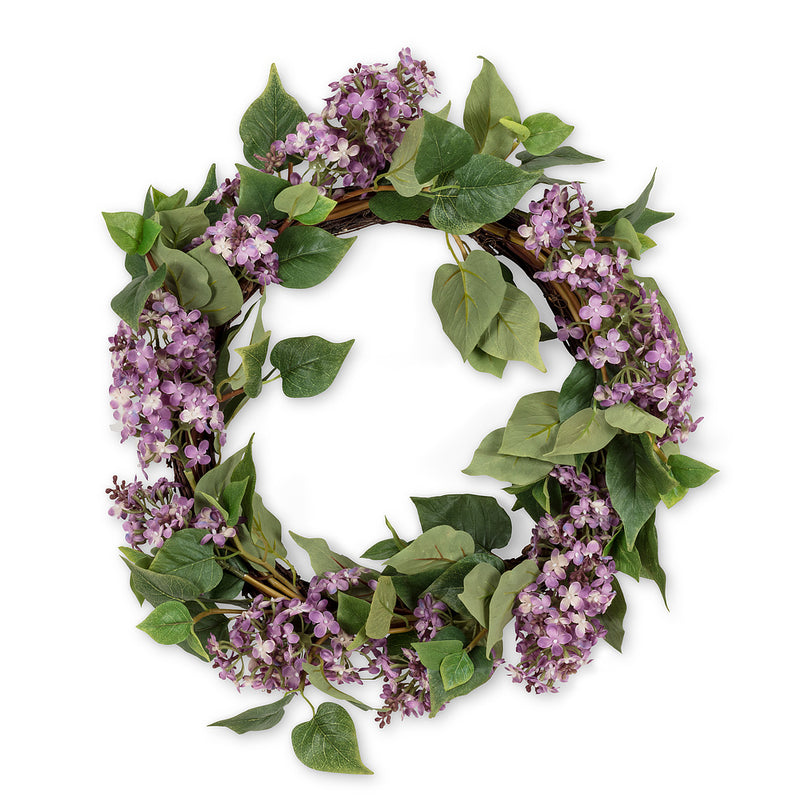 Purple Lilac Wreath - Large, AC-Abbott Collection, Putti Fine Furnishings