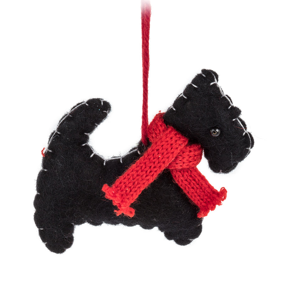 Stitched Scottie Ornament