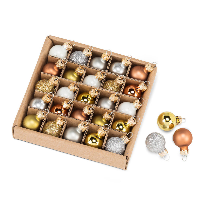 Metallic Mini Ball Ornaments – Set of 25, AC-Abbott Collection, Putti Fine Furnishings