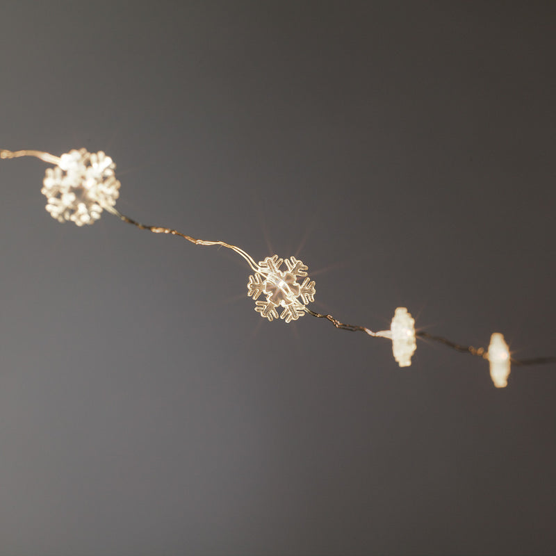 Mini Snowflake LED Light String, AC-Abbott Collection, Putti Fine Furnishings