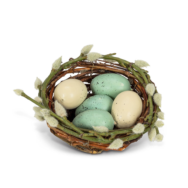 Speckled Eggs in Nest, AC-Abbott Collection, Putti Fine Furnishings