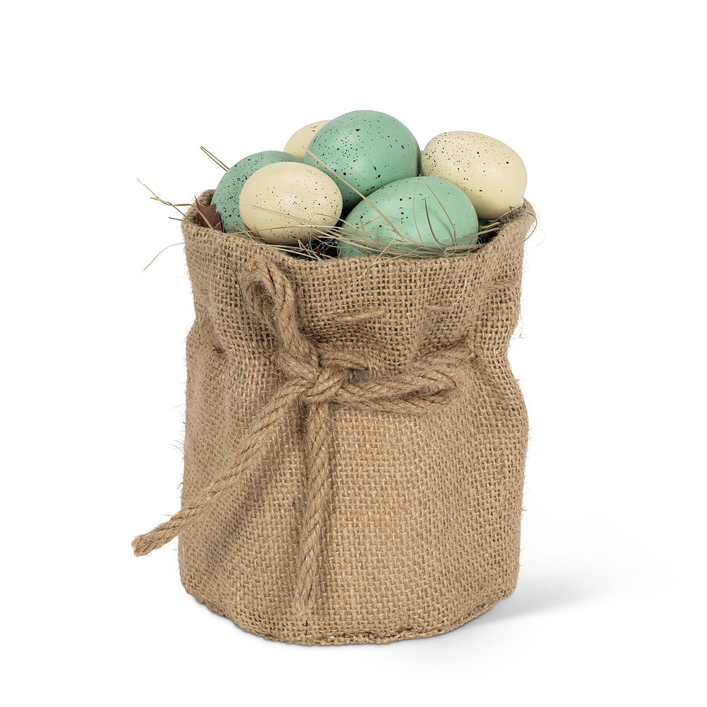 Speckled Eggs in Pouch, AC-Abbott Collection, Putti Fine Furnishings