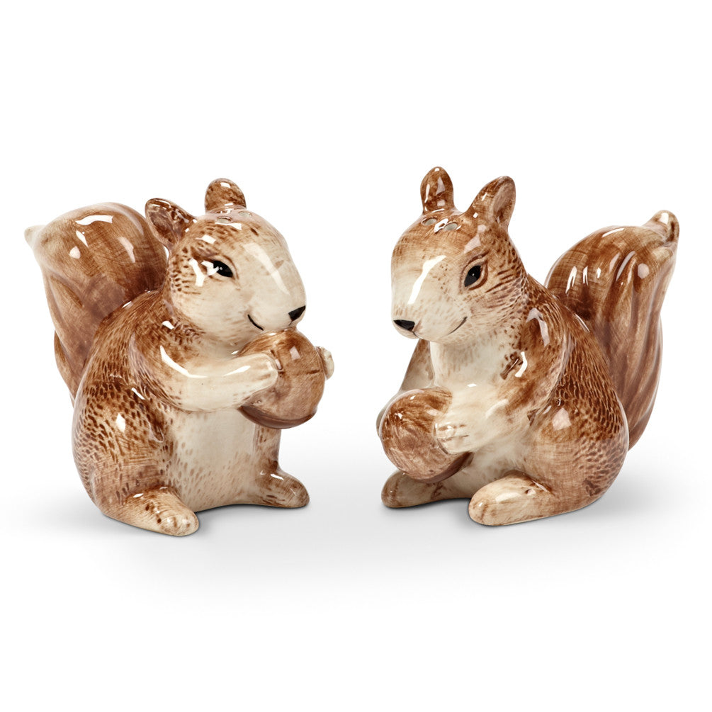Squirrel & Acorn Salt & Pepper -  Serving Pieces - AC-Abbot Collection - Putti Fine Furnishings Toronto Canada
