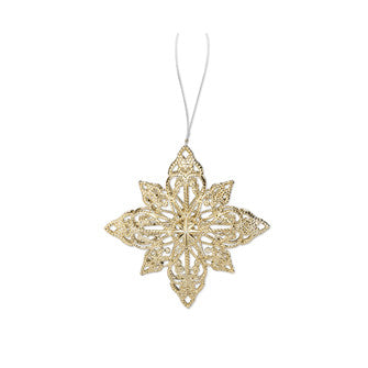 Gilded Snowflake Ornament, AC-Abbott Collection, Putti Fine Furnishings