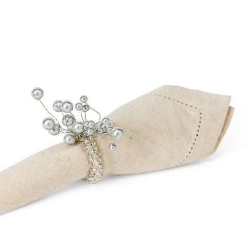 Pearl Spray Napkin Ring-Paper Napkin-AC-Abbott Collection-Putti Fine Furnishings