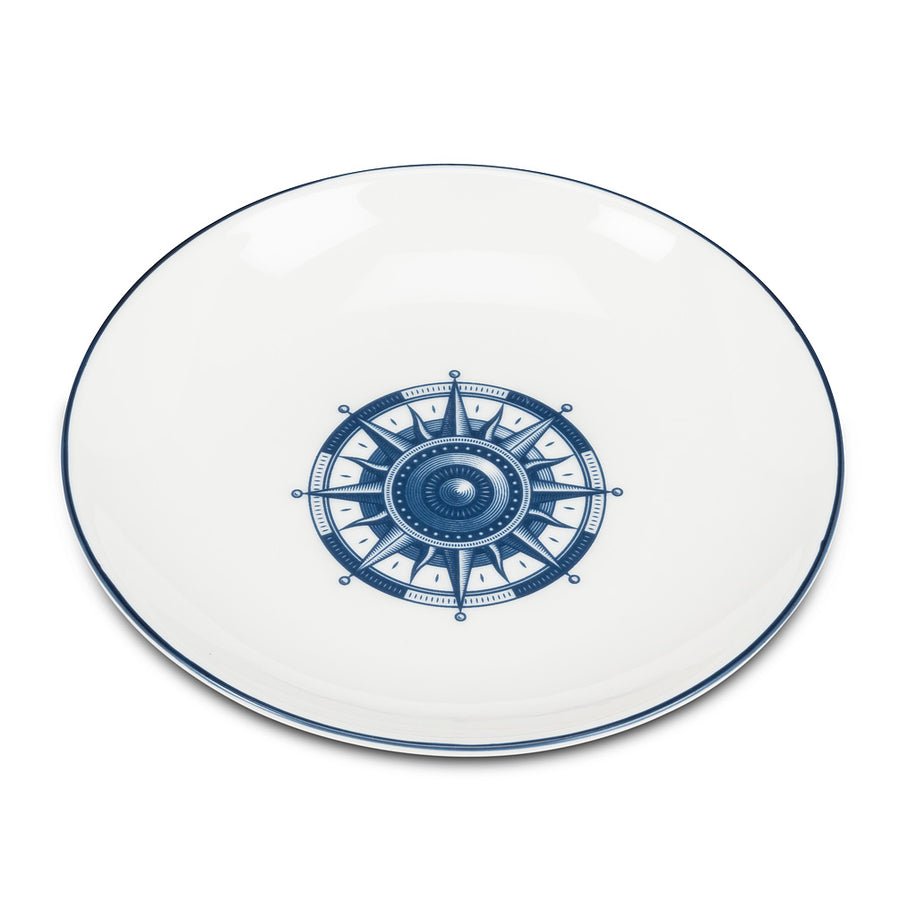 Small Round Dish with Compass