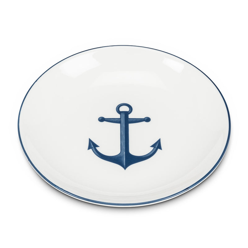 Small Round Dish with Anchor, AC-Abbott Collection, Putti Fine Furnishings