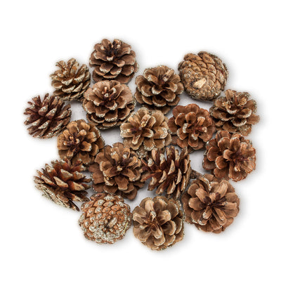 Large Pinecones with Gold Glitter -  Christmas - AC-Abbot Collection - Putti Fine Furnishings Toronto Canada - 1