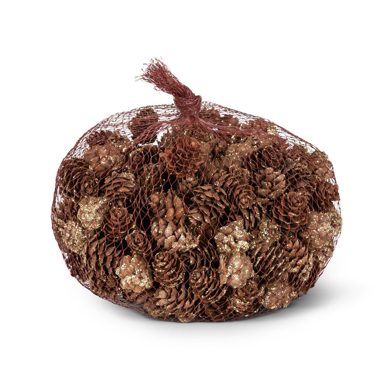 Small Pinecones with Gold Glitter -  Christmas - AC-Abbot Collection - Putti Fine Furnishings Toronto Canada - 1