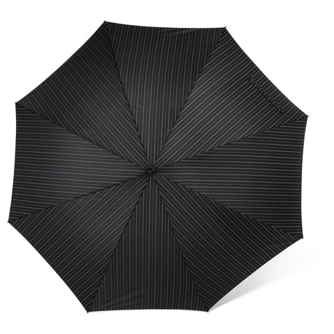 Black Pinstripe Umbrella -  Personal Accessories - Abbot Collection - Putti Fine Furnishings Toronto Canada - 1