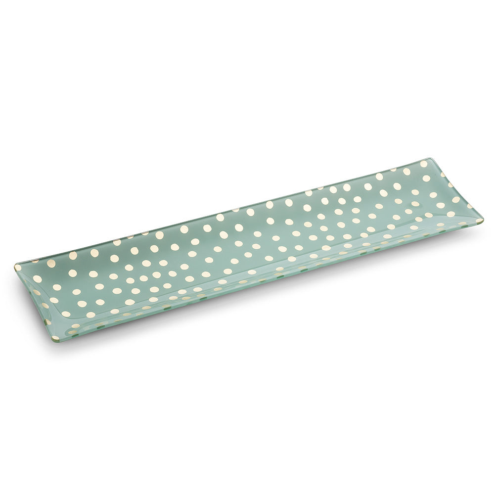 Long Slim Plate with Dots