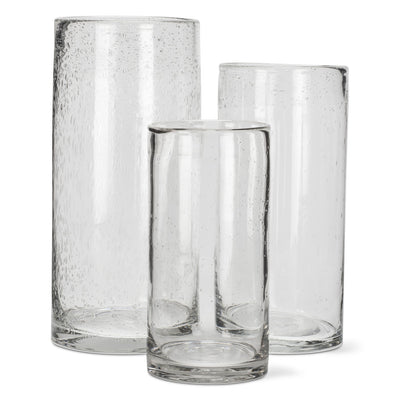 Seeded Glass Cylinder Vase Large Putti Fine Furnishings Canada