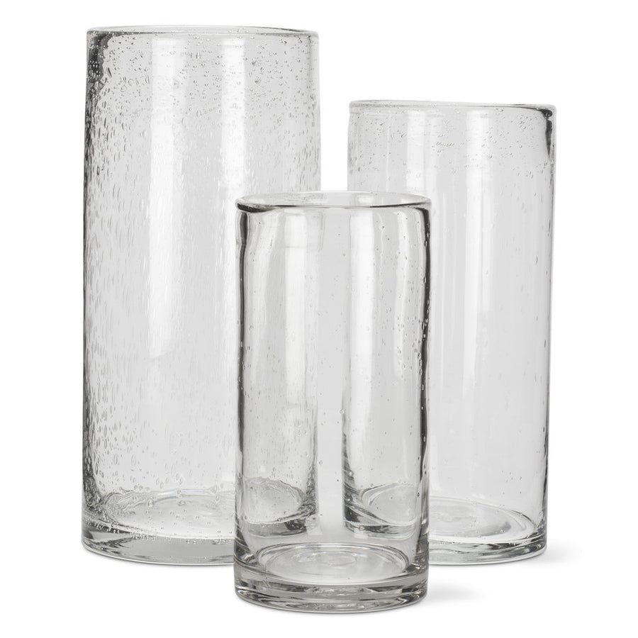 Seeded Glass Cylinder Vase - Large -  Accessories - AC-Abbott Collection - Putti Fine Furnishings Toronto Canada - 1
