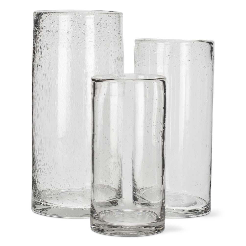 Seeded Glass Cylinder Vase - Small -  Accessories - AC-Abbott Collection - Putti Fine Furnishings Toronto Canada - 2