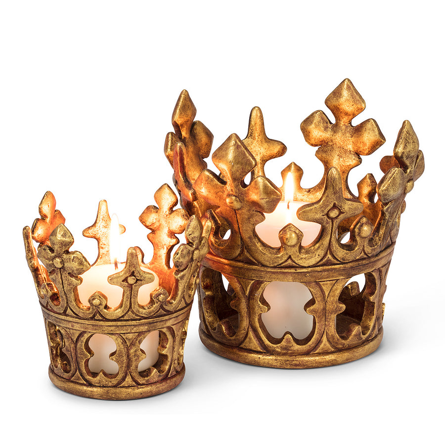 Large Crown Wine/Candle Holder