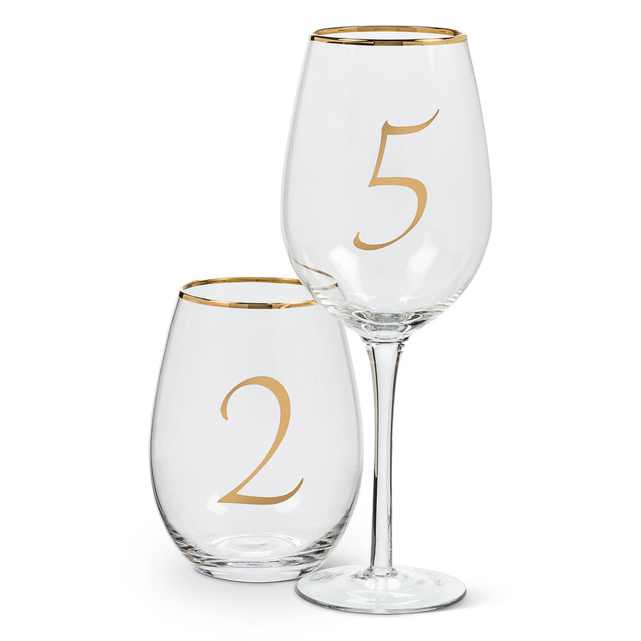 Gold Number Goblets, AC-Abbott Collection, Putti Fine Furnishings