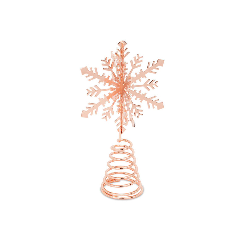Rose Gold Snowflake Tree Topper -  Christmas - Putti Fine Furnishings Toronto Canada